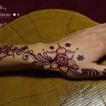 henna hena ruka kvety